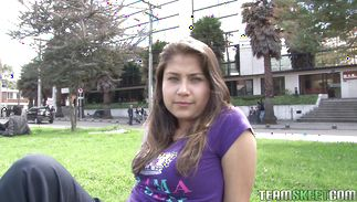 Experienced fucker gladly gropes staggering bosomed latin darling Yulissa Camacho's giant tits while fucking her