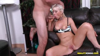 Sweet blonde Christina Carris was concerned to begin fucking this male