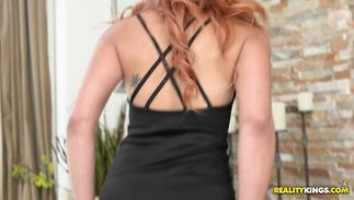 Kinky redhead latin cutie Danira Love gets absolutely destroyed by chap