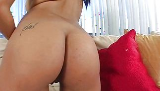Alluring latin Aliana Love and her boyfriend have fleshly sex