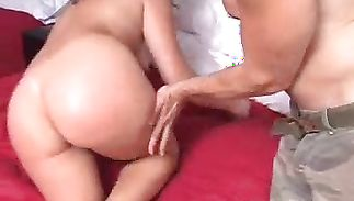 Charming latin brunette hottie Sammie is ready to swallow fat fuck stick